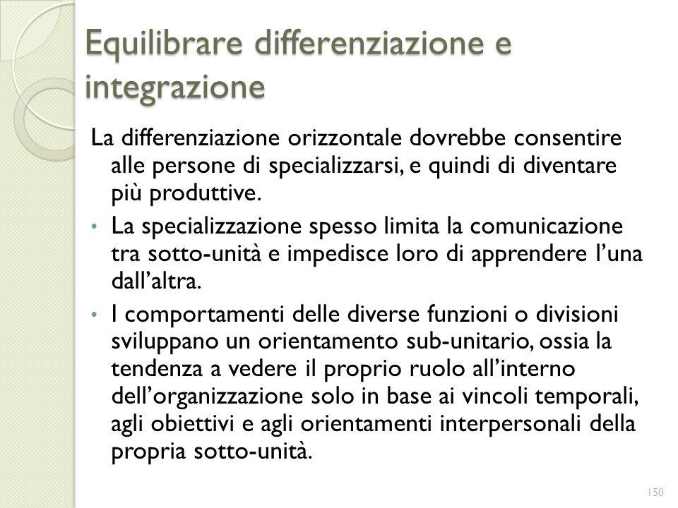 Equilibrare differenziazione e integrazione