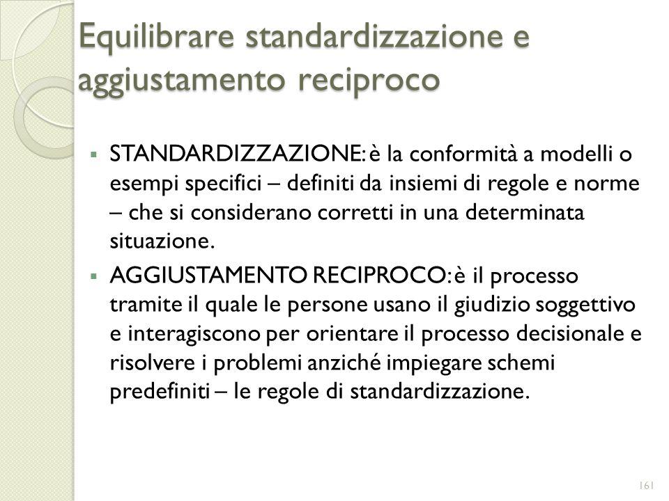 Equilibrare standardizzazione e aggiustamento reciproco