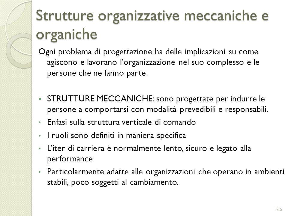 Strutture organizzative meccaniche e organiche
