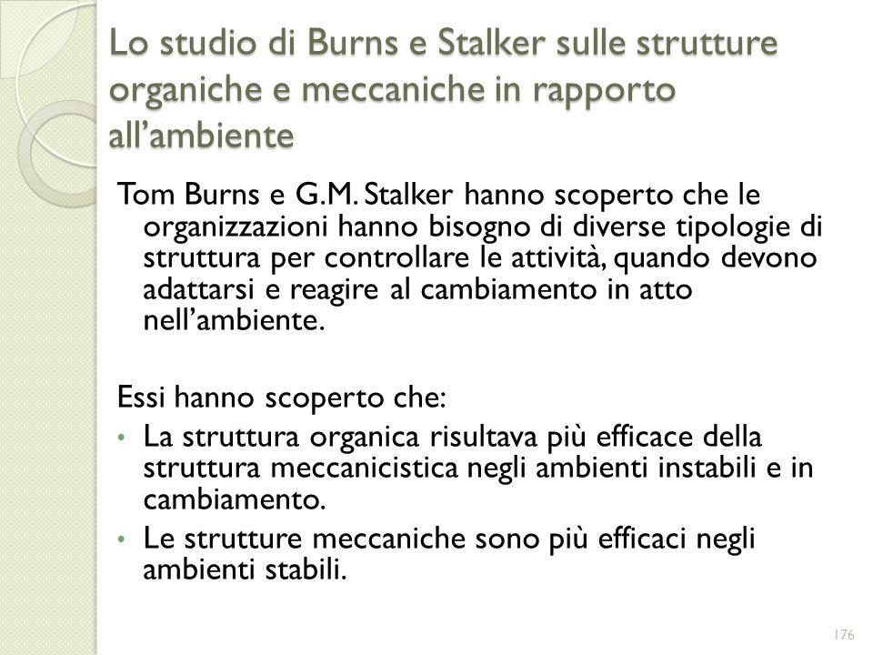 Lo studio di Burns e Stalker sulle strutture organiche e meccaniche in rapporto all'ambiente