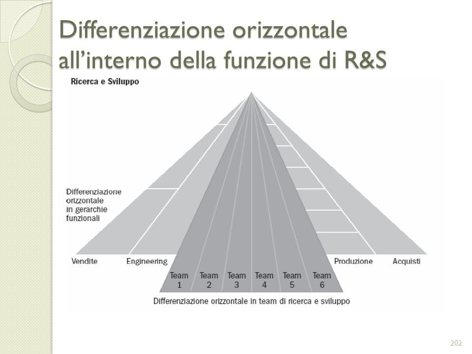 Differenziazione orizzontale all'interno della funzione di R&S