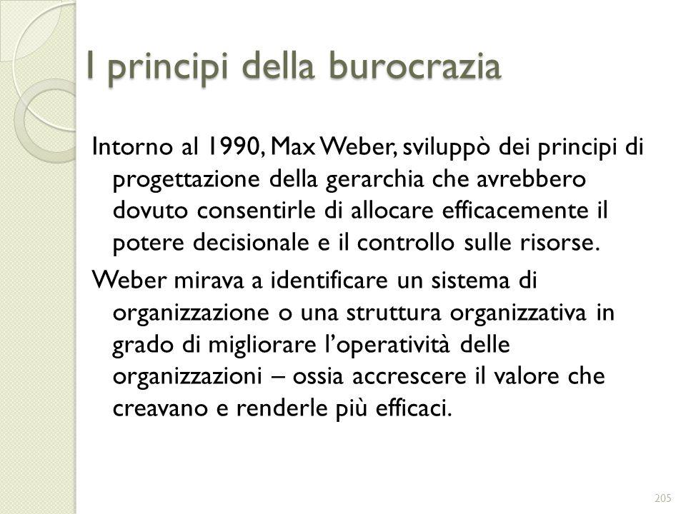 I principi della burocrazia