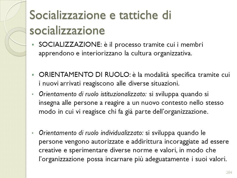 Socializzazione e tattiche di socializzazione