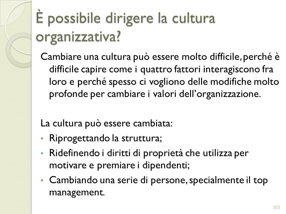 È possibile dirigere la cultura organizzativa