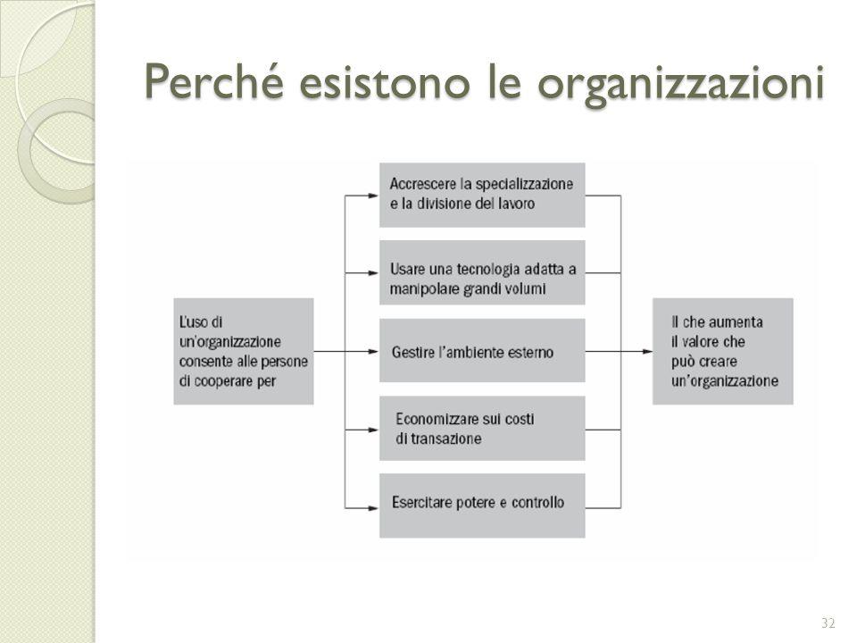Perché esistono le organizzazioni