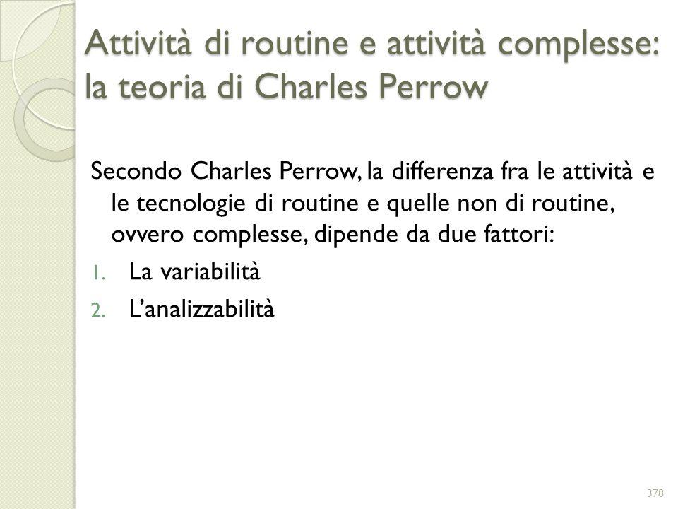 Attività di routine e attività complesse: la teoria di Charles Perrow