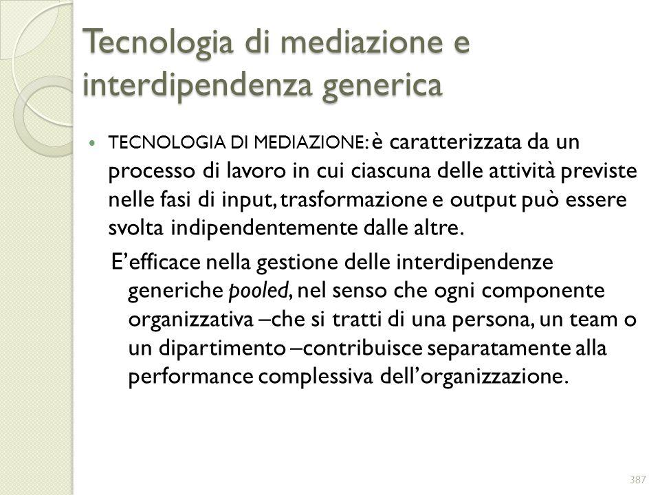 Tecnologia di mediazione e interdipendenza generica