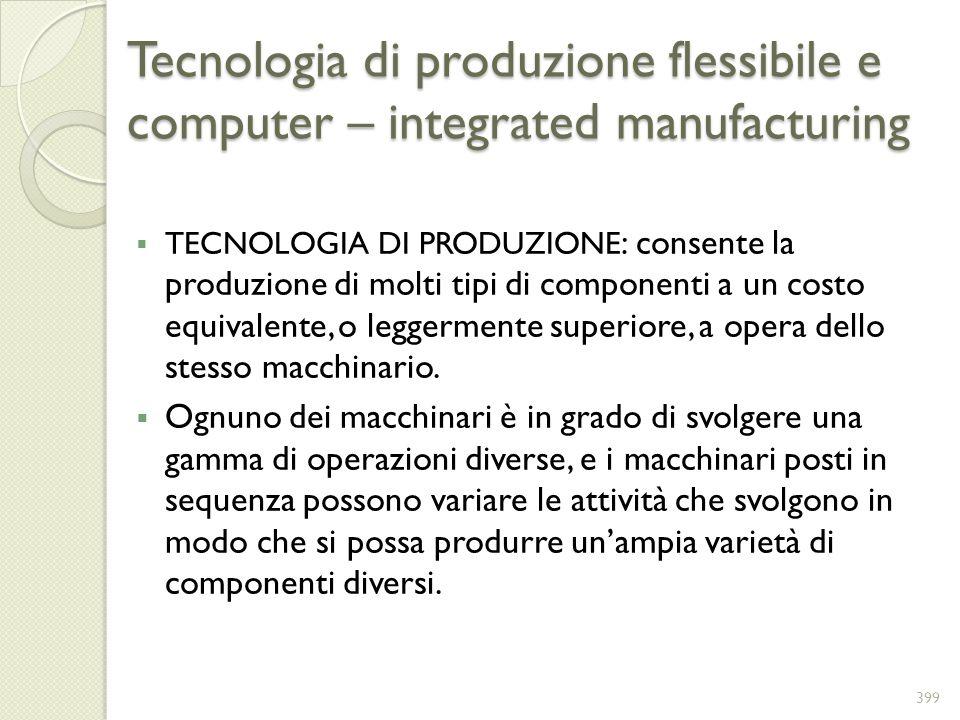 Tecnologia di produzione flessibile e computer – integrated manufacturing