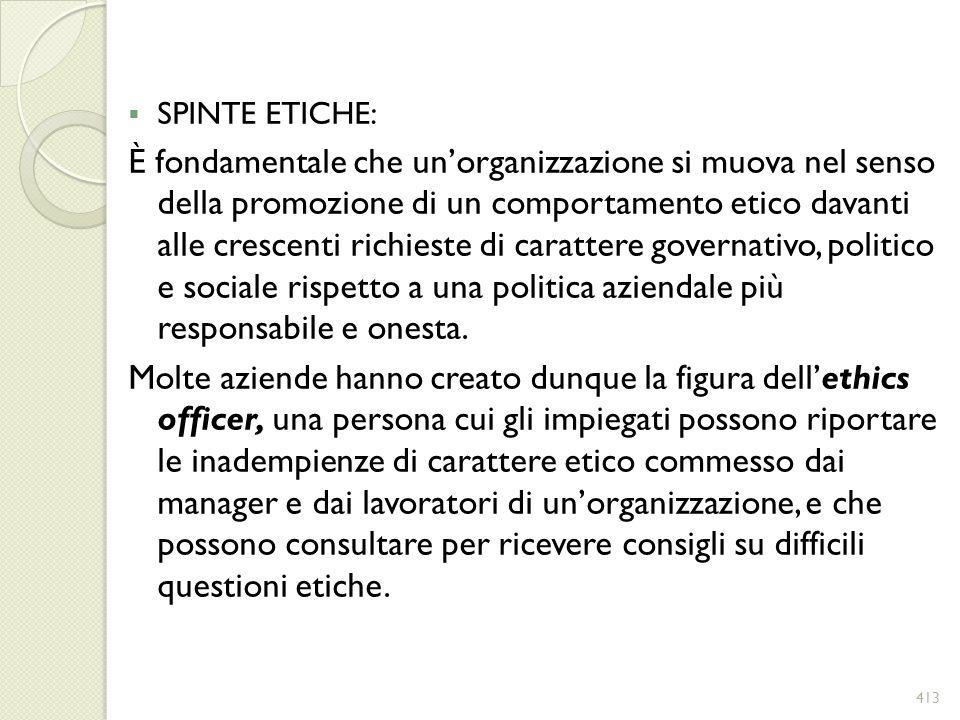 SPINTE ETICHE: