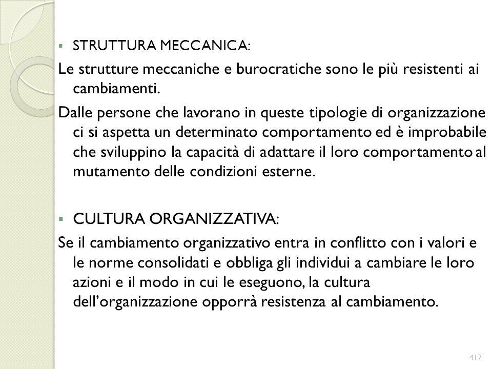 CULTURA ORGANIZZATIVA: