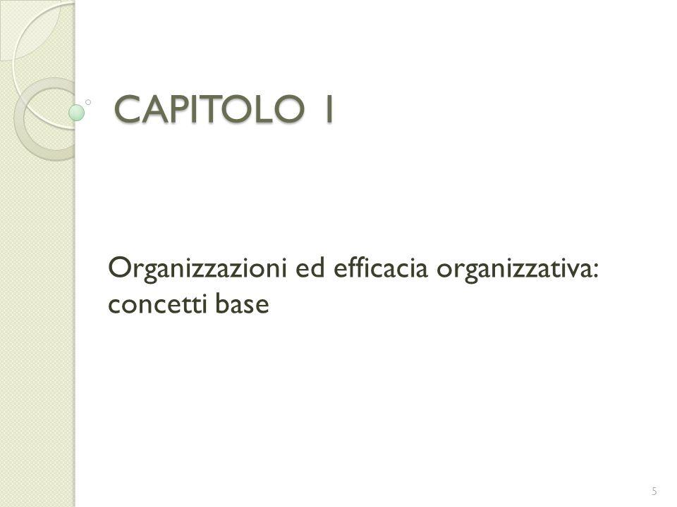 Organizzazioni ed efficacia organizzativa: concetti base
