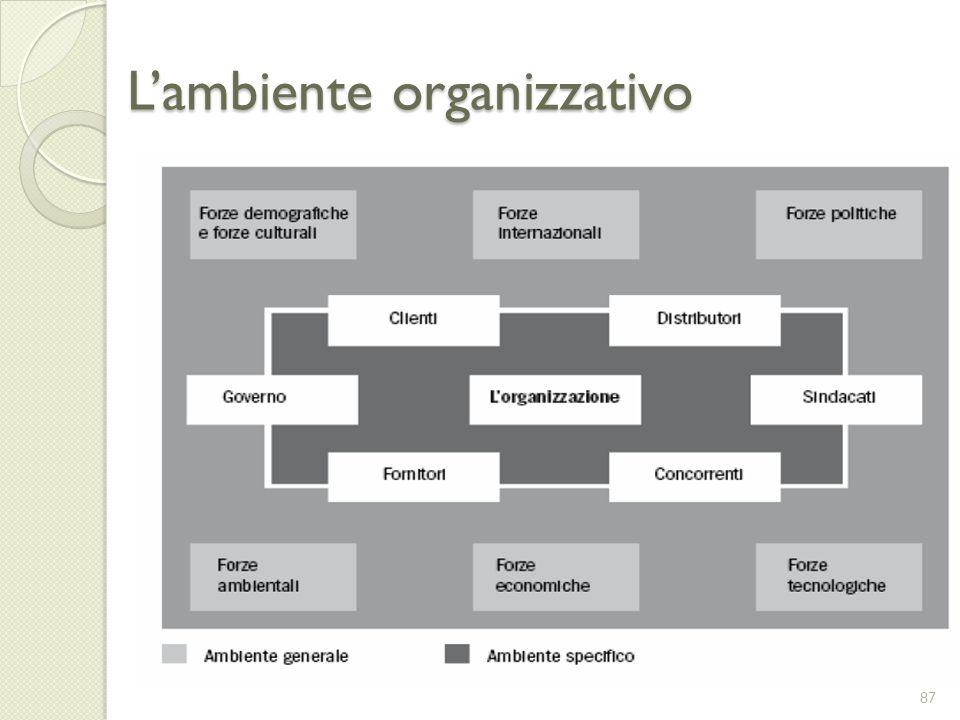 L'ambiente organizzativo