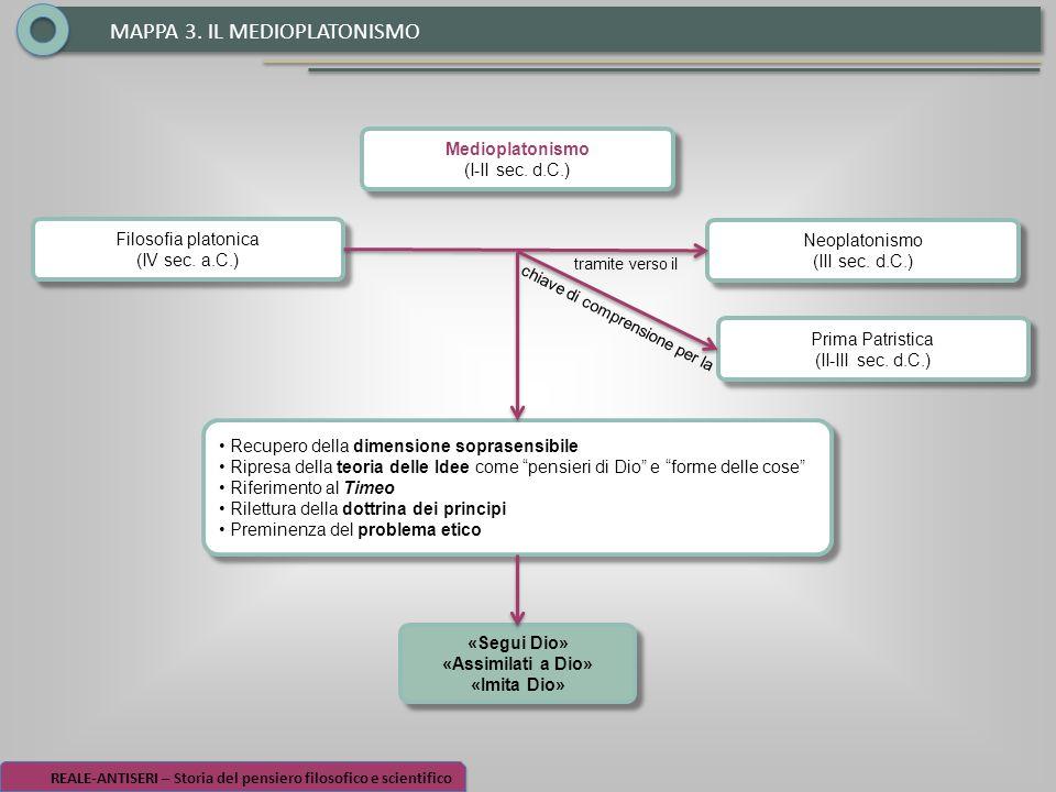 MAPPA 3. IL MEDIOPLATONISMO