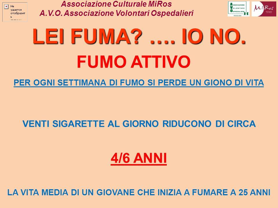 LEI FUMA …. IO NO. FUMO ATTIVO 4/6 ANNI
