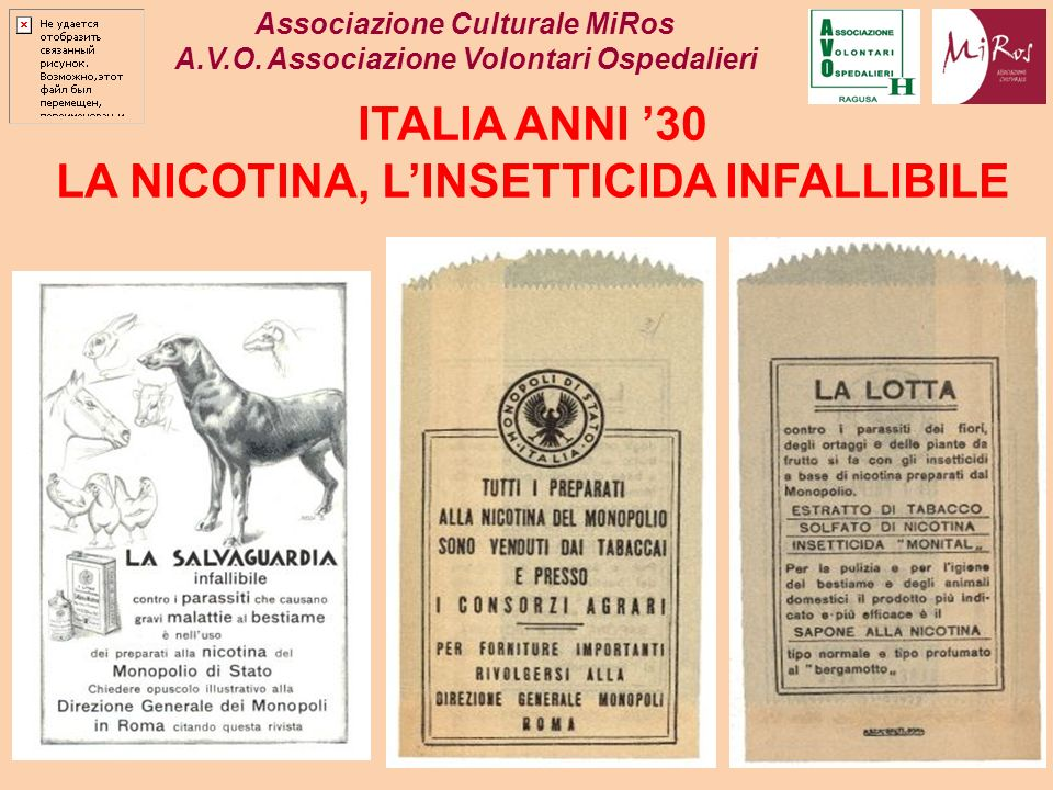 LA NICOTINA, L'INSETTICIDA INFALLIBILE