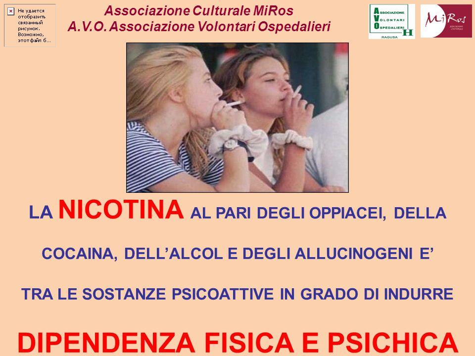DIPENDENZA FISICA E PSICHICA