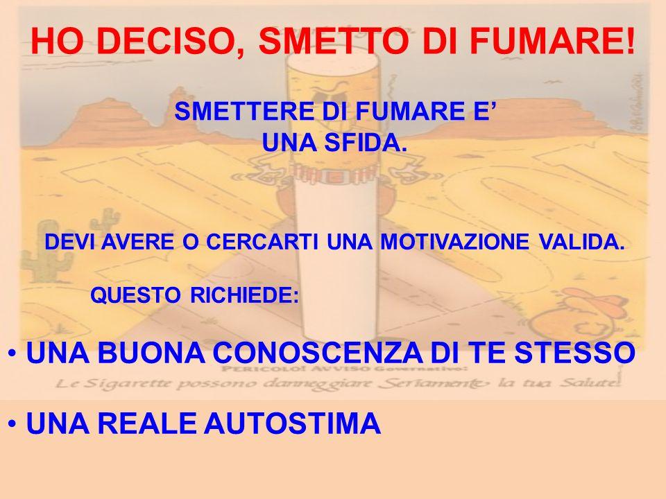 HO DECISO, SMETTO DI FUMARE!