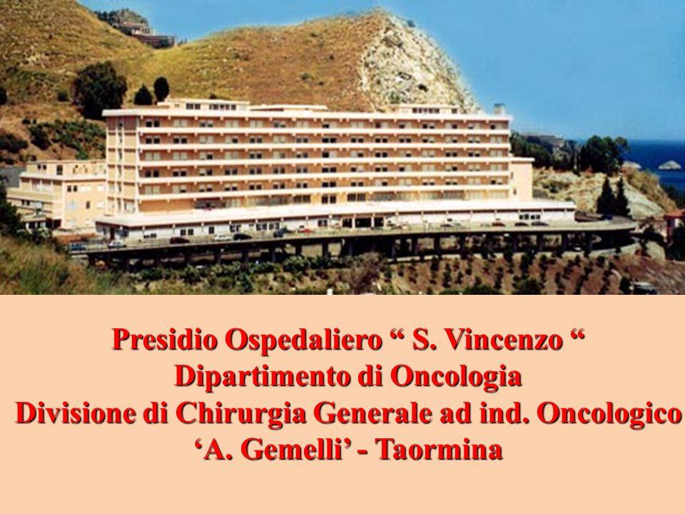 Presidio Ospedaliero S. Vincenzo Dipartimento di Oncologia