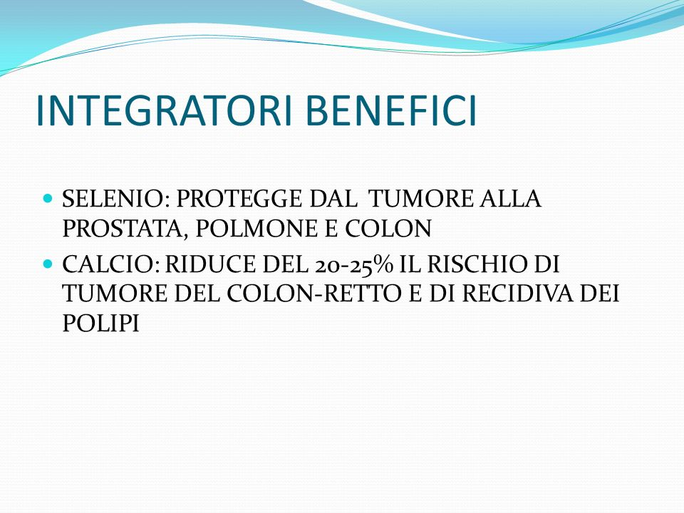 INTEGRATORI BENEFICI SELENIO: PROTEGGE DAL TUMORE ALLA PROSTATA, POLMONE E COLON.