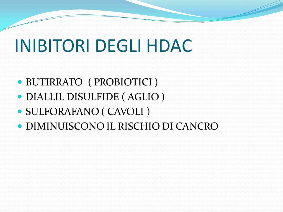 INIBITORI DEGLI HDAC BUTIRRATO ( PROBIOTICI )