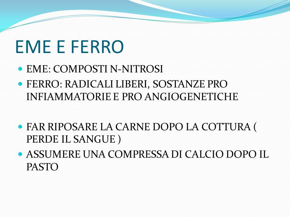 EME E FERRO EME: COMPOSTI N-NITROSI