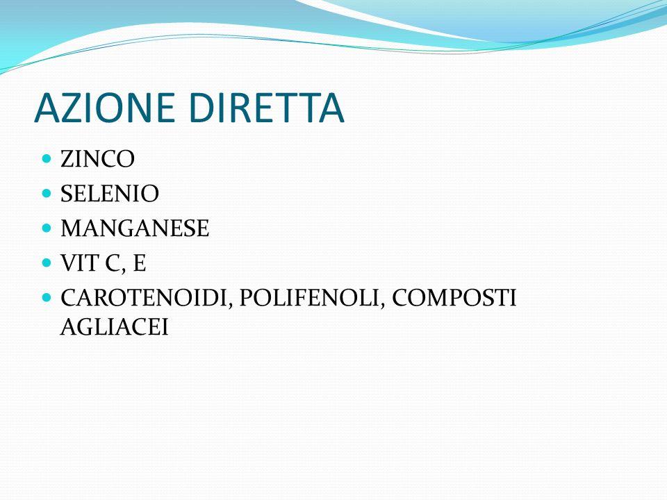 AZIONE DIRETTA ZINCO SELENIO MANGANESE VIT C, E