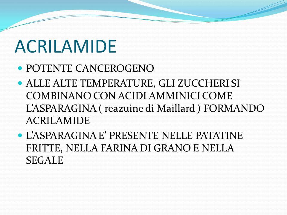 ACRILAMIDE POTENTE CANCEROGENO