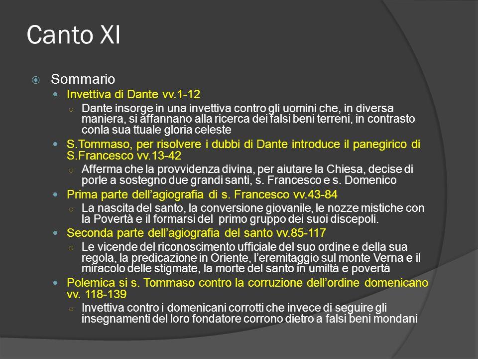 Canto XI Sommario Invettiva di Dante vv.1-12