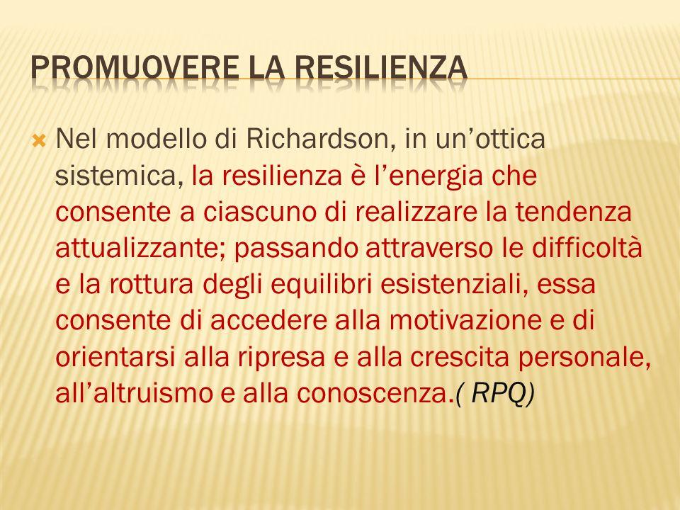 Promuovere La resilienza