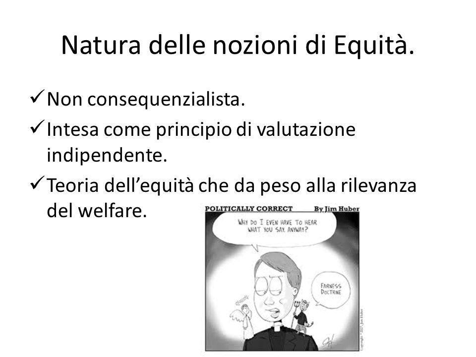 Natura delle nozioni di Equità.