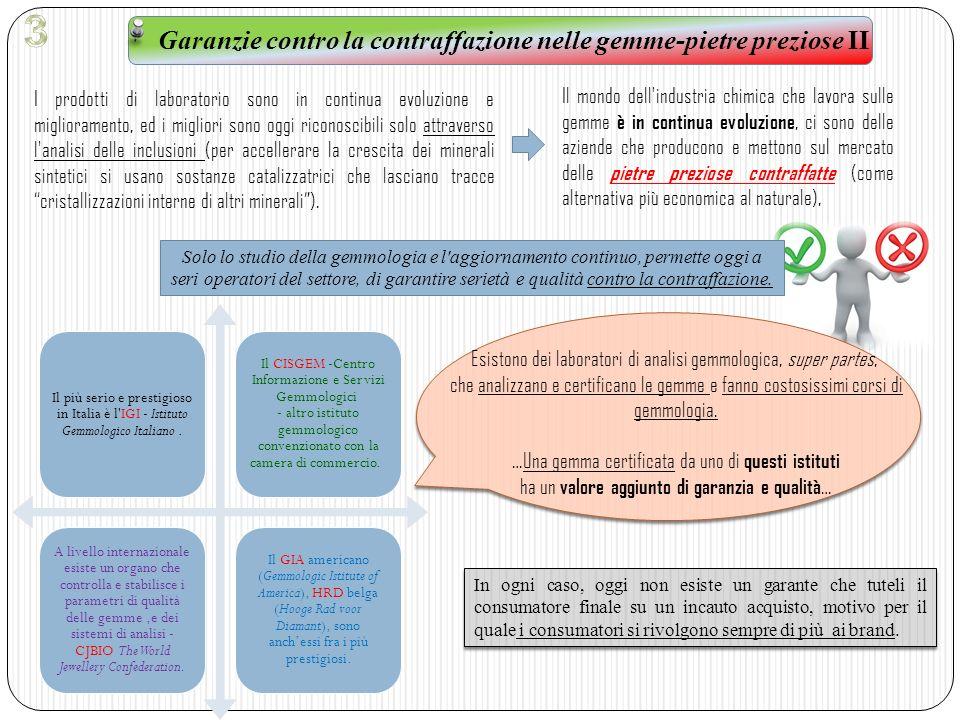 Garanzie contro la contraffazione nelle gemme-pietre preziose II