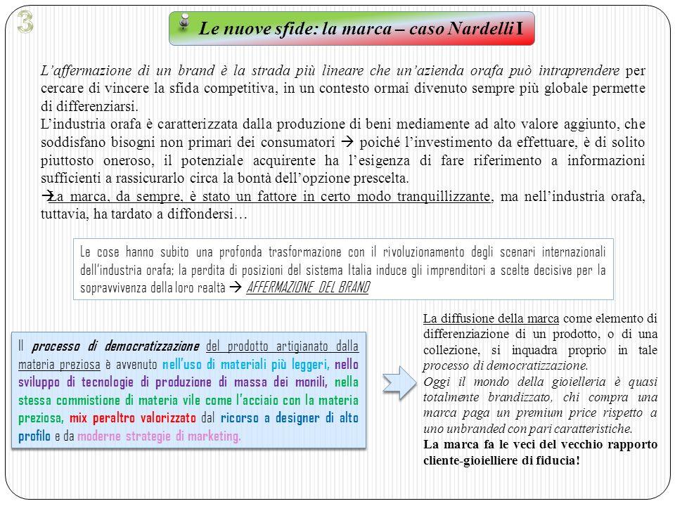 Le nuove sfide: la marca – caso Nardelli I
