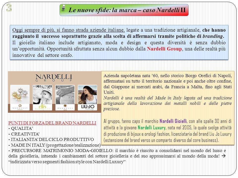 Le nuove sfide: la marca – caso Nardelli II