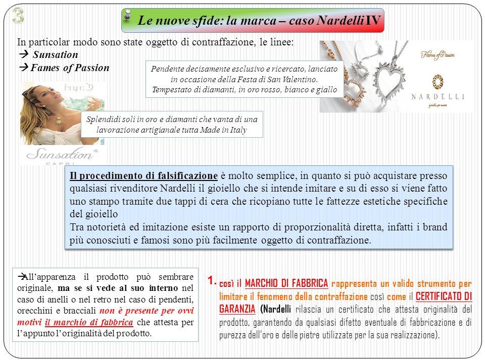 Le nuove sfide: la marca – caso Nardelli IV