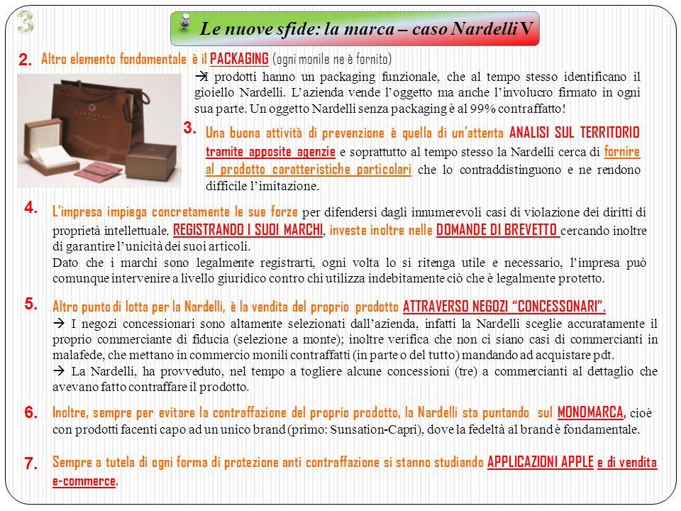 Le nuove sfide: la marca – caso Nardelli V