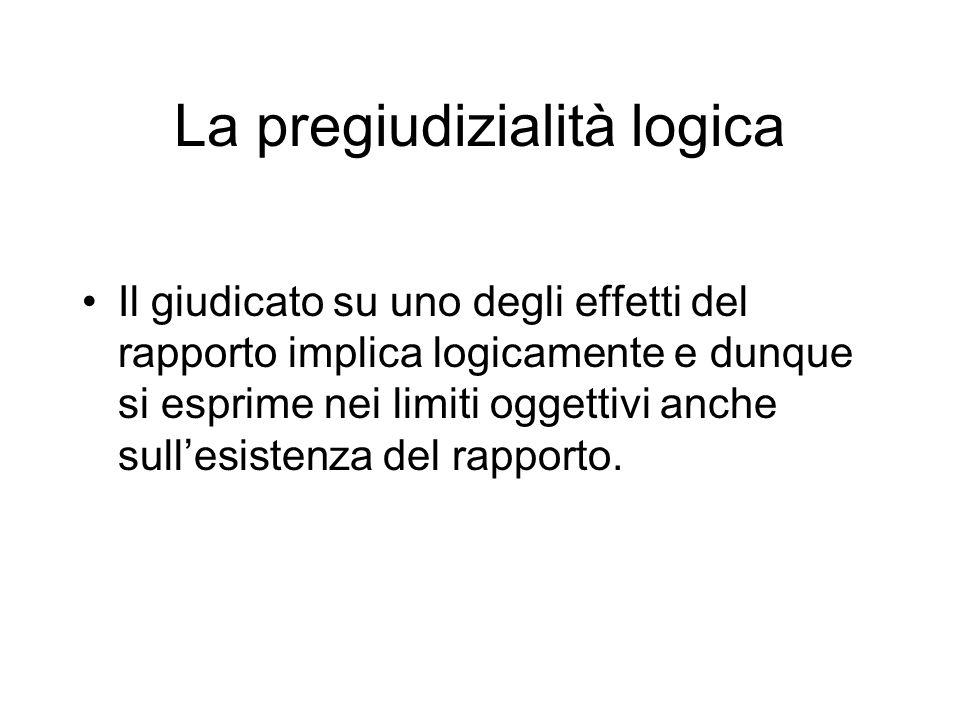 La pregiudizialità logica