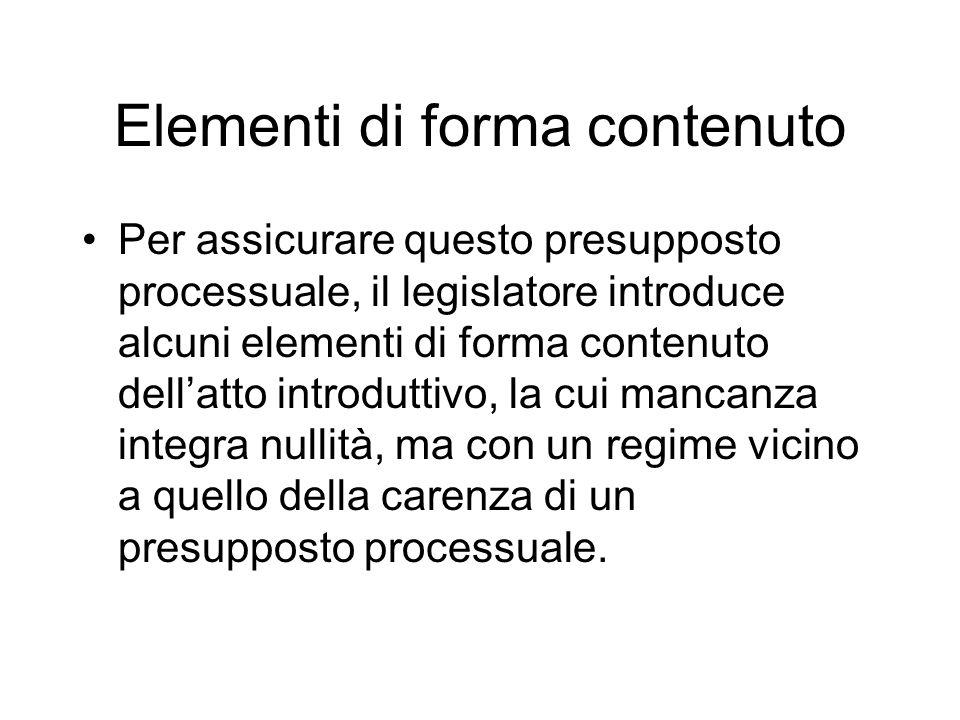 Elementi di forma contenuto