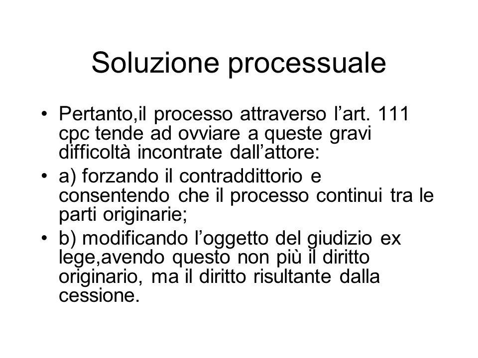 Soluzione processuale