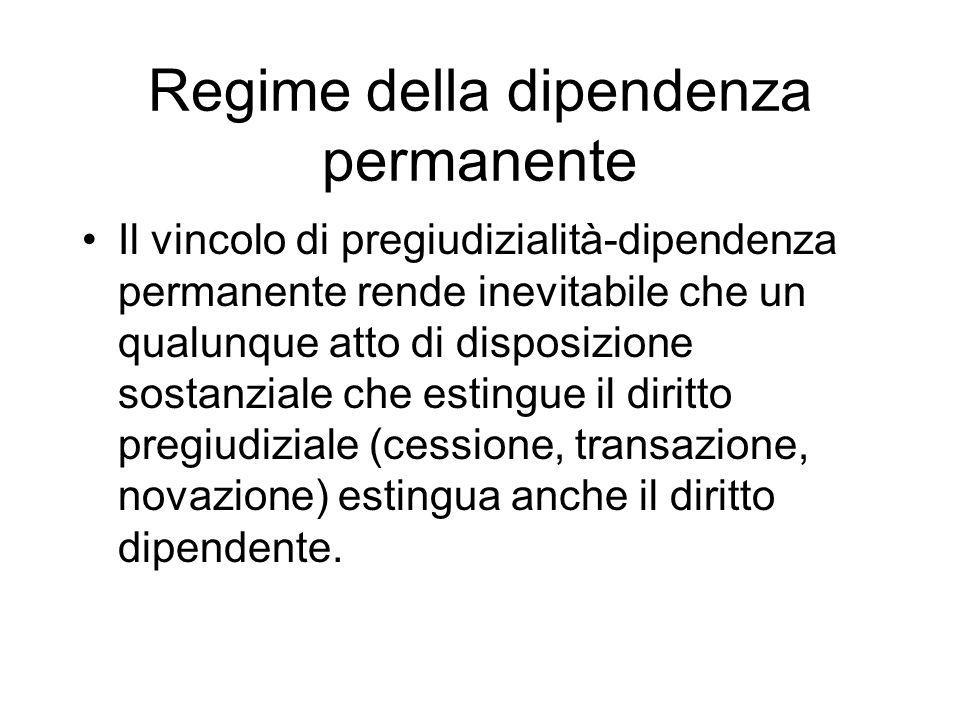 Regime della dipendenza permanente