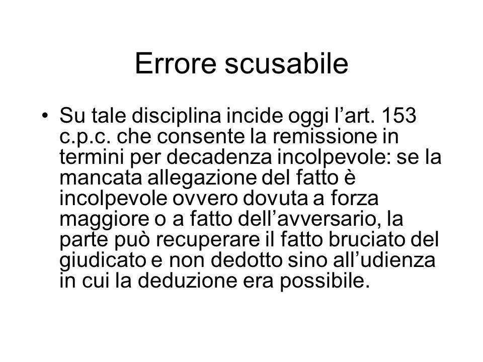 Errore scusabile
