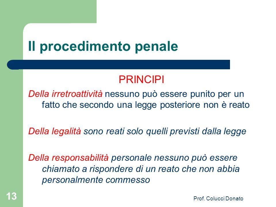 Il procedimento penale