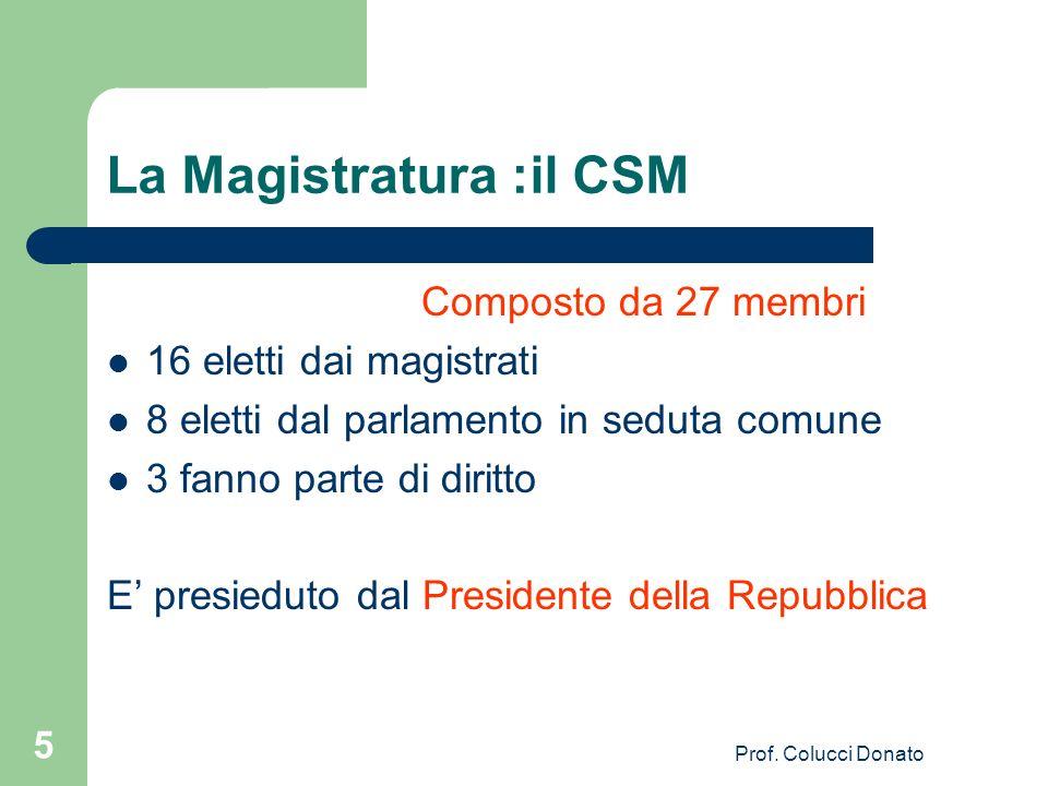 La Magistratura :il CSM