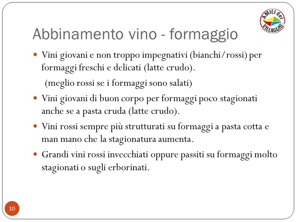 Abbinamento vino - formaggio