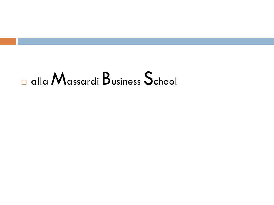alla Massardi Business School