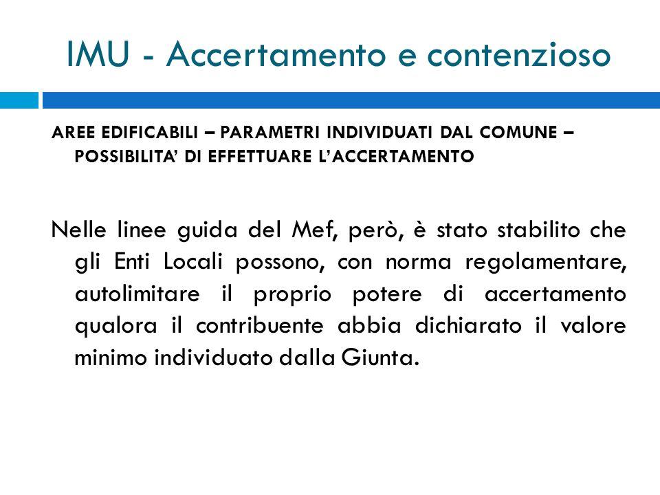 IMU - Accertamento e contenzioso