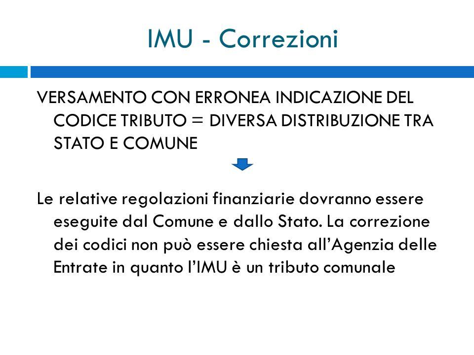 IMU - Correzioni