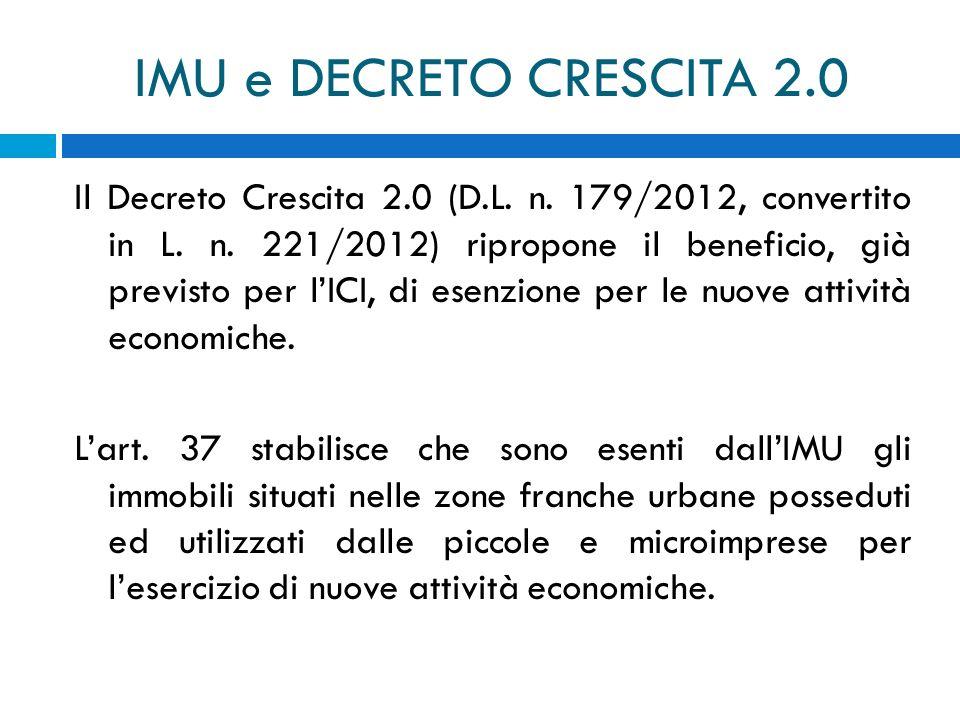 IMU e DECRETO CRESCITA 2.0