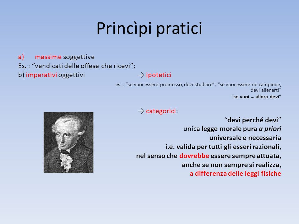 Princìpi pratici massime soggettive