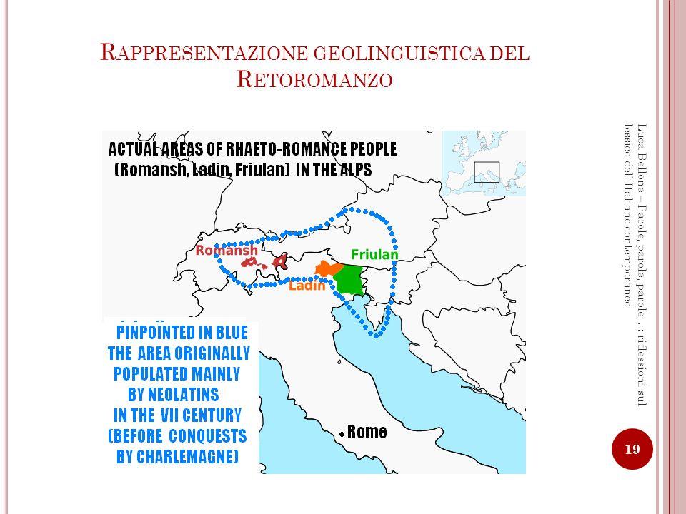 Rappresentazione geolinguistica del Retoromanzo