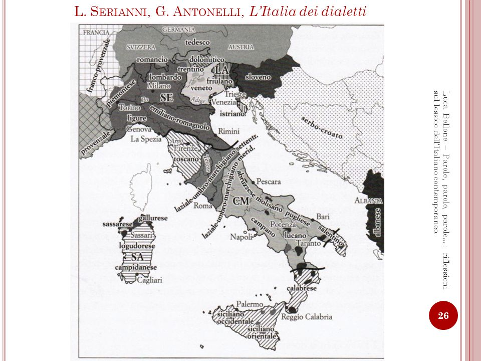L. Serianni, G. Antonelli, L'Italia dei dialetti